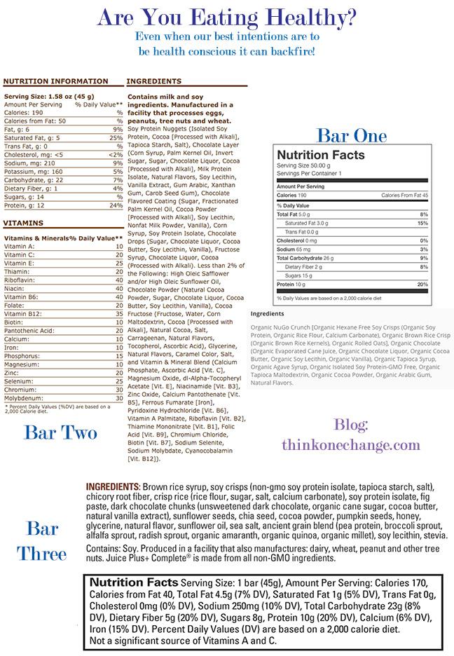 Nutrition Bar Comparing