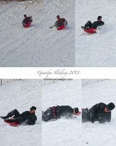 grandpa-sledding