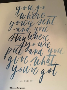 Give What You've Got