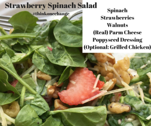 Strawberry Spinach Salad  #thinkonechange