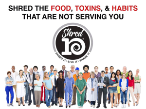 Shred10 - 10 days giving up things that are not serving you.  #thinkonechange