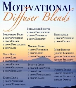 Motivational Diffuser Blends.  #thinkonechange