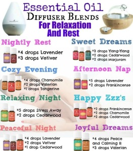 Diffuser Blends for Relaxation and Rest.  #thinkonechange