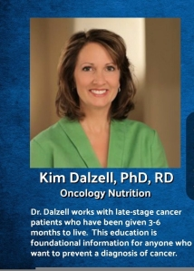 Dr. Dalzell, Oncology Nutrition.  #thinkonechange
